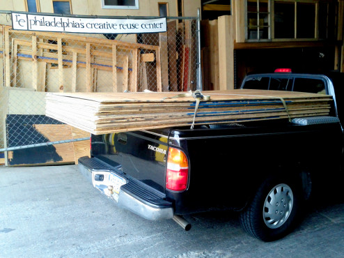 Arden Pinocchio plywood on pick up truck 2