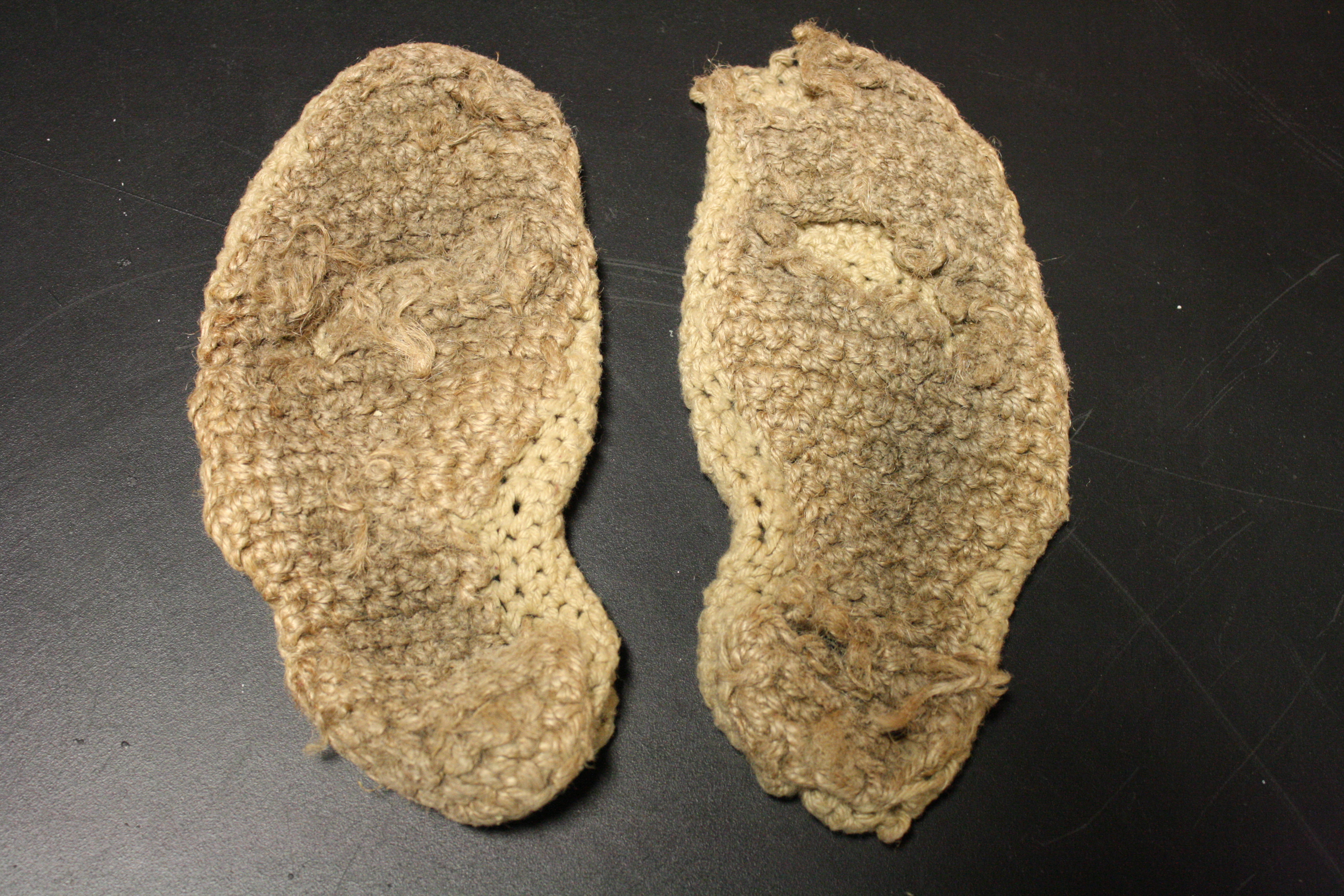 Worn out slippers