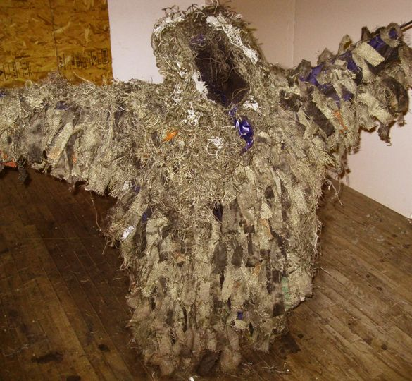 Eileen Doyle Garbage World burlap