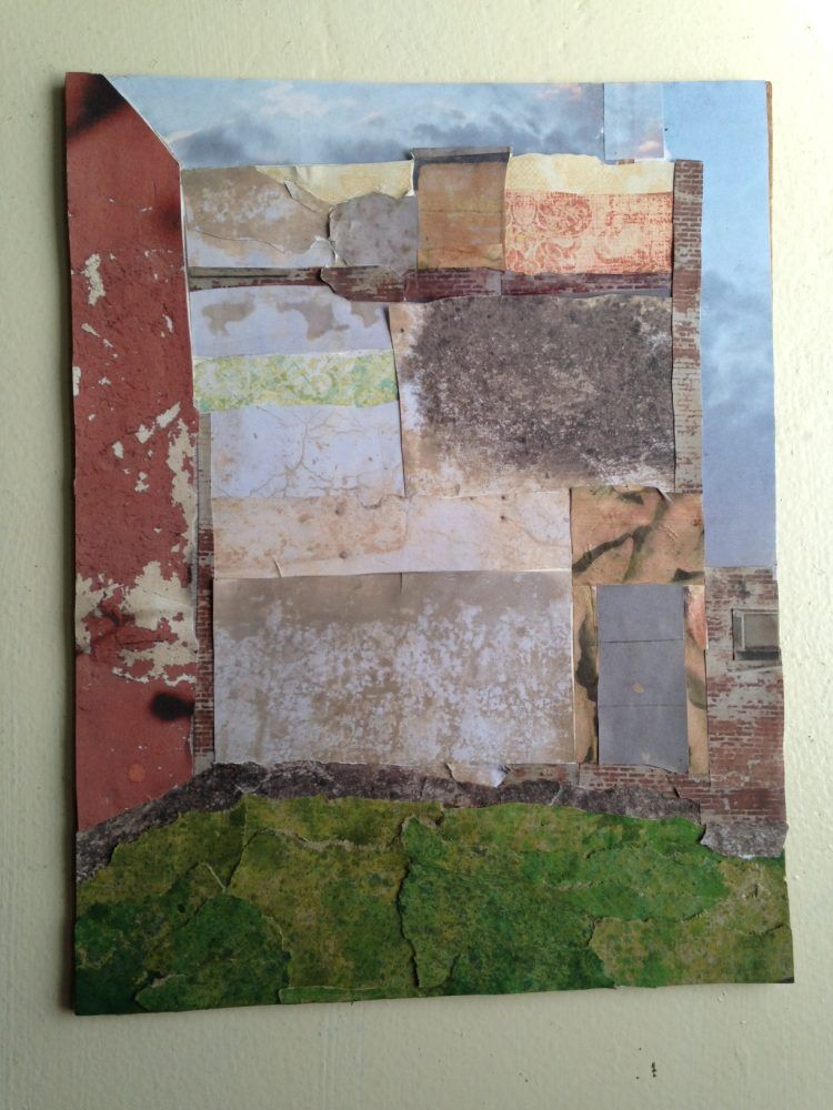 Vicki Solot's reclaimed paper collages