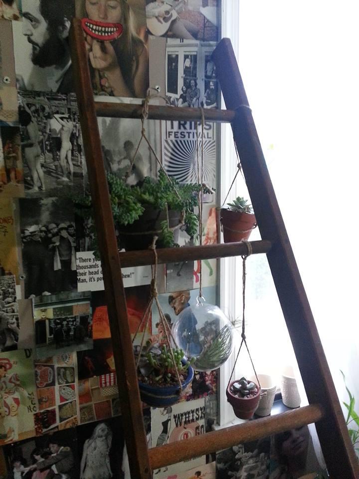 repurposed ladder!
