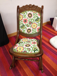 Nancy Shay's reupholstered chair