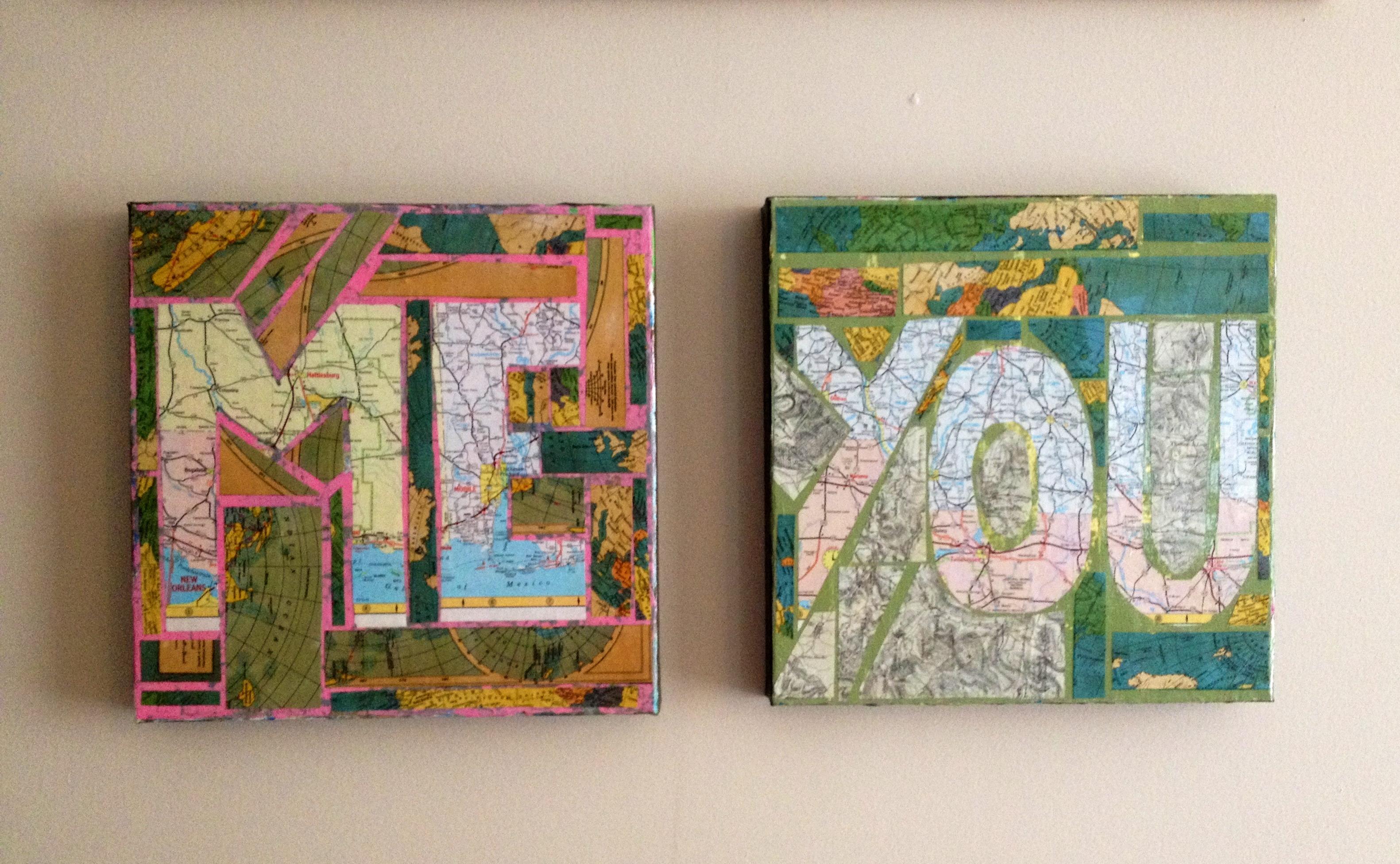 Greg Map Paintings
