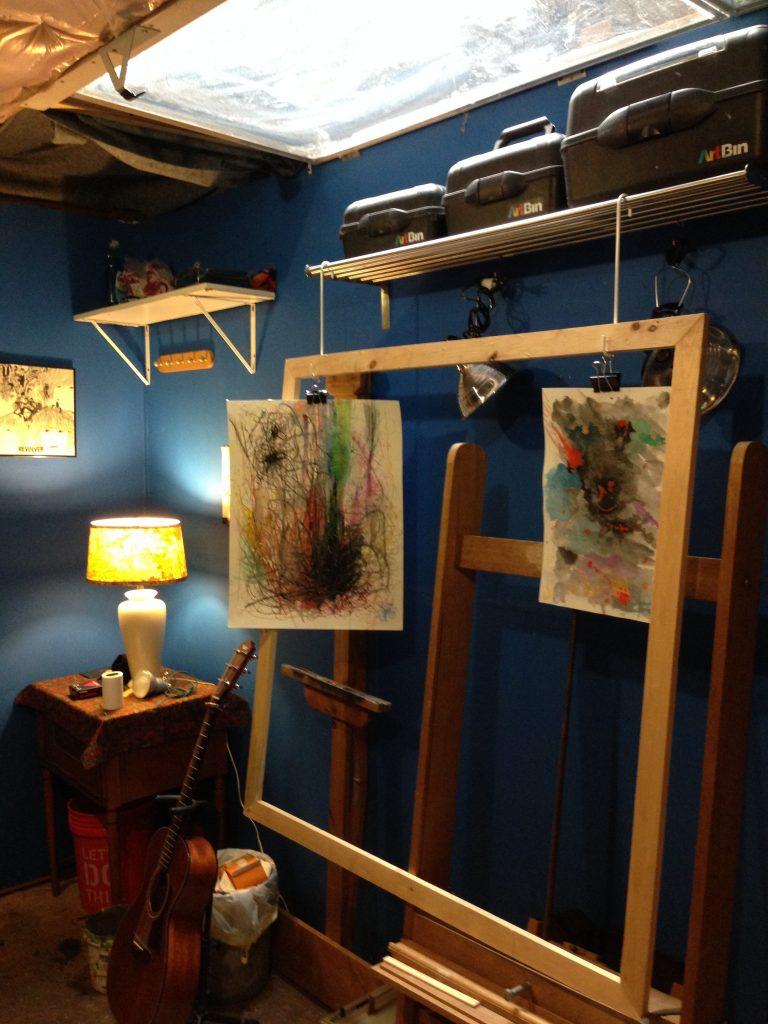 Eric's studio skylight