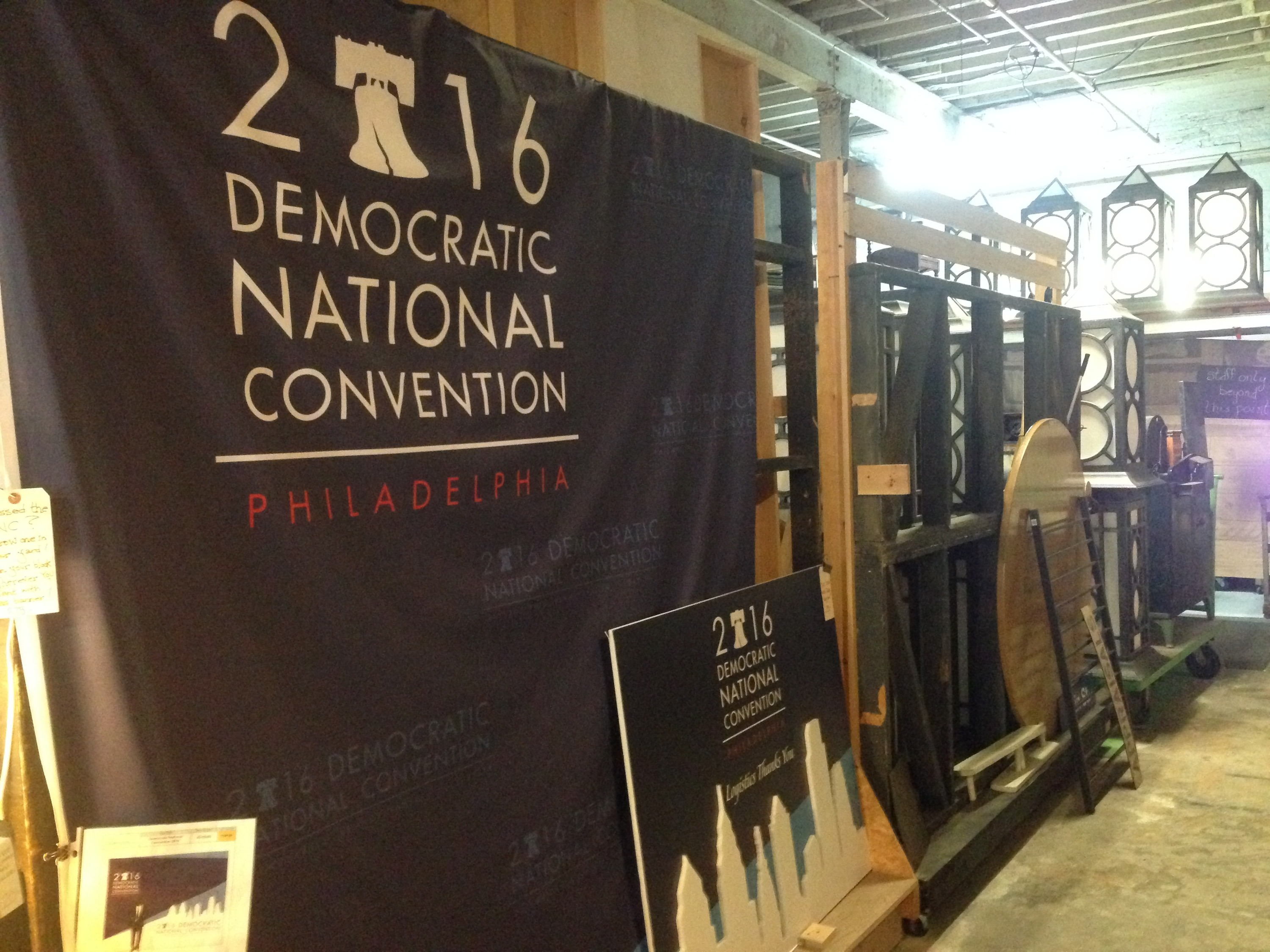 DNC large banner in store