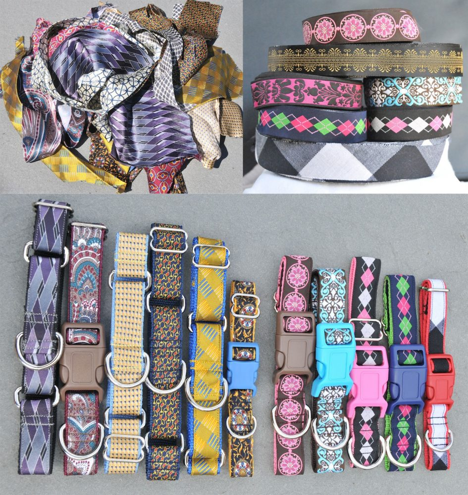 "Reclaimed Materials in ""Pitch's Stitches"" Dog Collars + More!"
