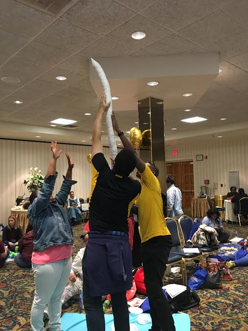 Constructivist Play for Adults Workshop uses reclaimed materials!