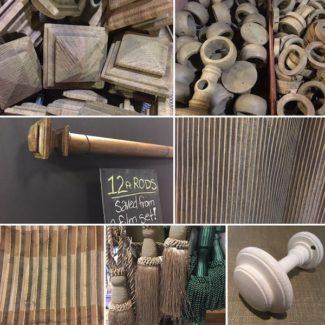Oak Finish Curtain Rods and Hardware