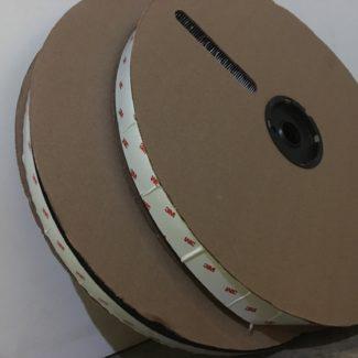 3M Black Adhesive Back Velcro (Loop Side Only)