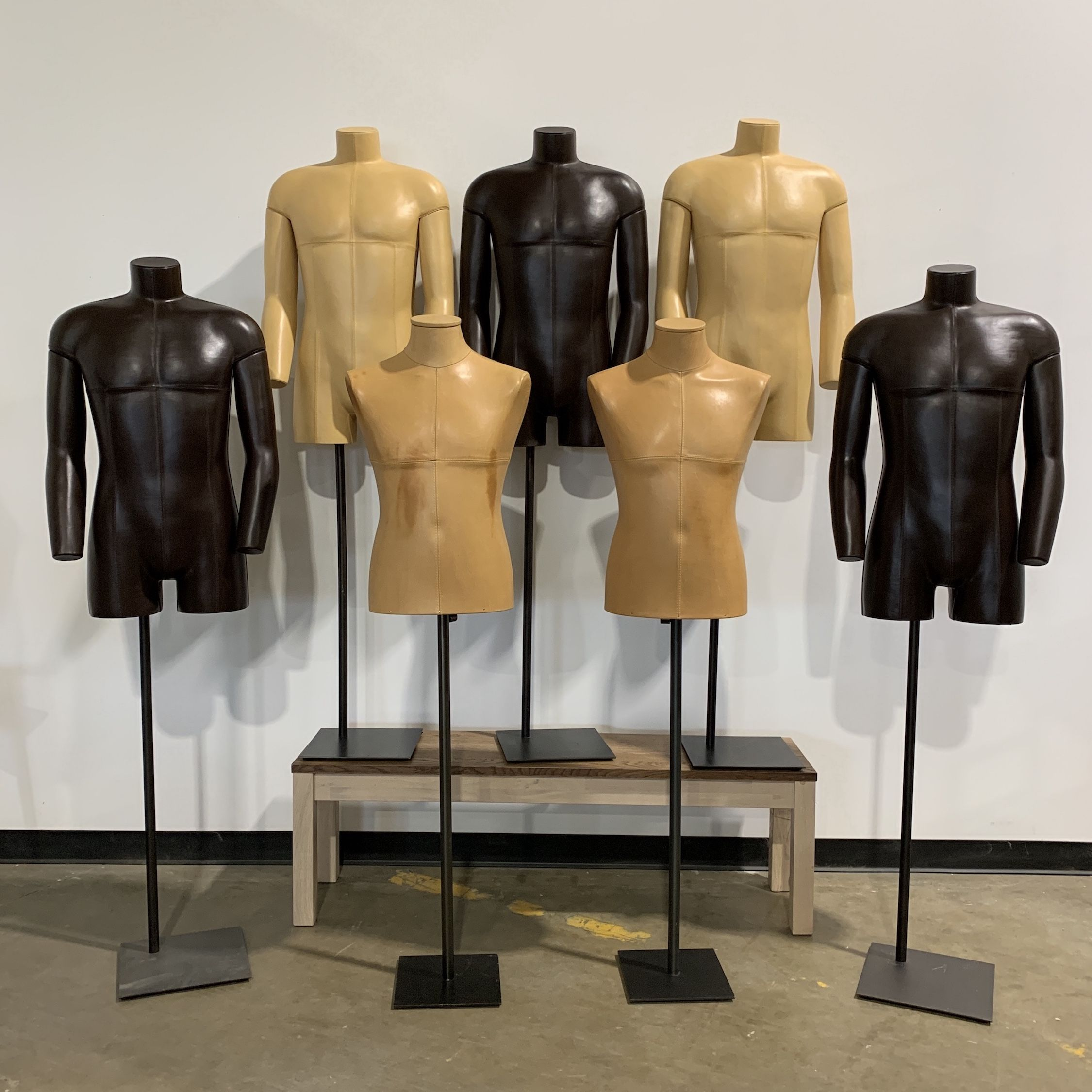 Leather Mannequins + Mannequin Parts