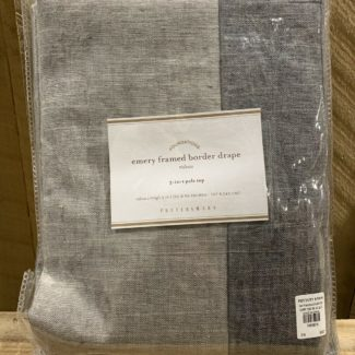 Pottery Barn Linen Border Curtains