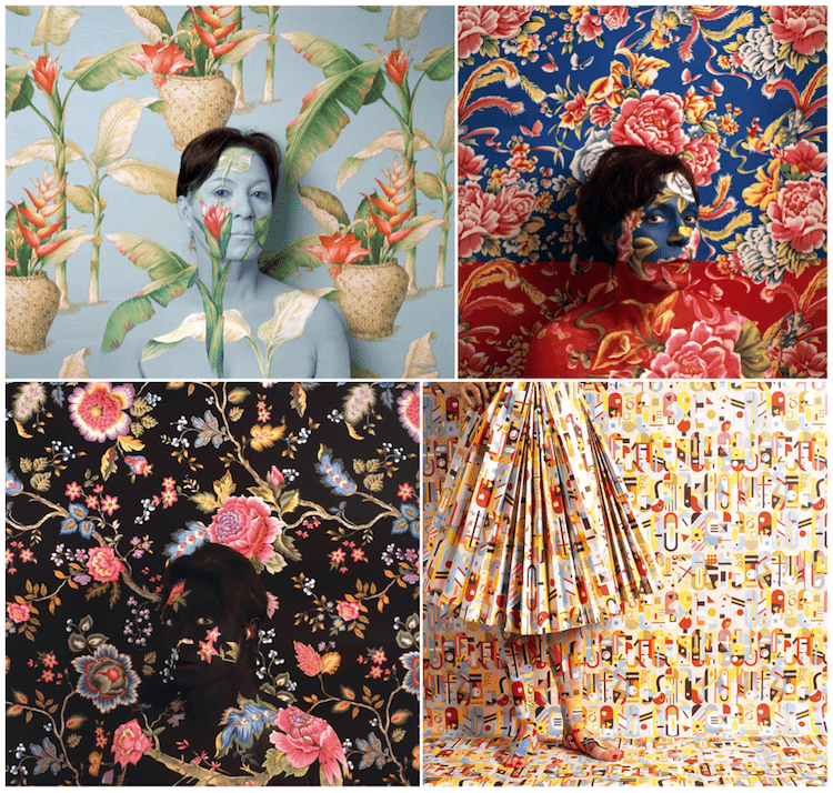 Collage of art by Cecilia Paredes