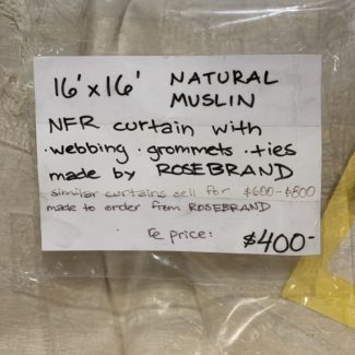 NFR Natural Muslin Curtain