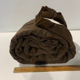 Extra Wide Brown Poly Muslin Fabric